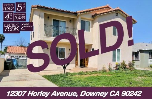 SOLD! 12307 Horley Avenue, Downey CA 90242 | 5 BED | 4 BATH | +3.4K SQ FT | +6.2K LOT