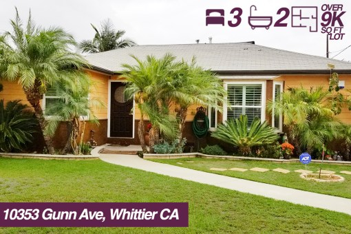 10353 Gunn Ave, Whittier California | 3 BED | 2 BATH | +9K SQ FT LOT