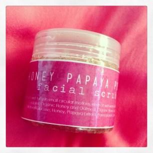 Honey Papaya Pomegranate Facial Scrub