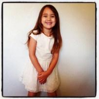 Modelling her new Zara dress