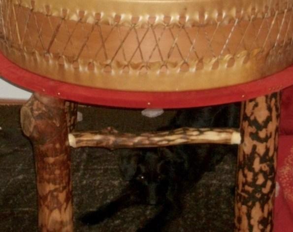 Hund unter der Trommel