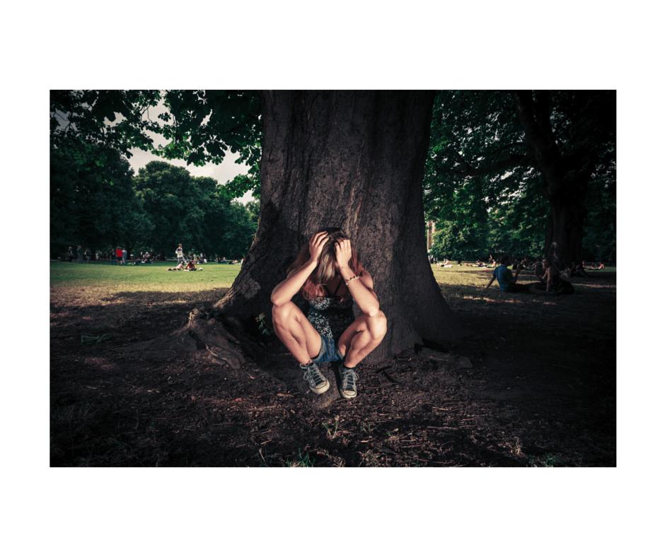 Stress Woman Tree