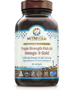 NutriGold Triple Strength Fish Oil Omega-3 Gold