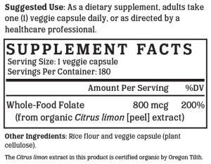 NutriGold Whole-Food Folate Gold
