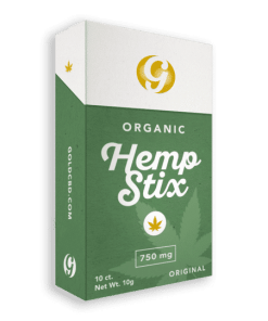Gold Standard Hemp Stix- 10 Pack. 750mg Natural