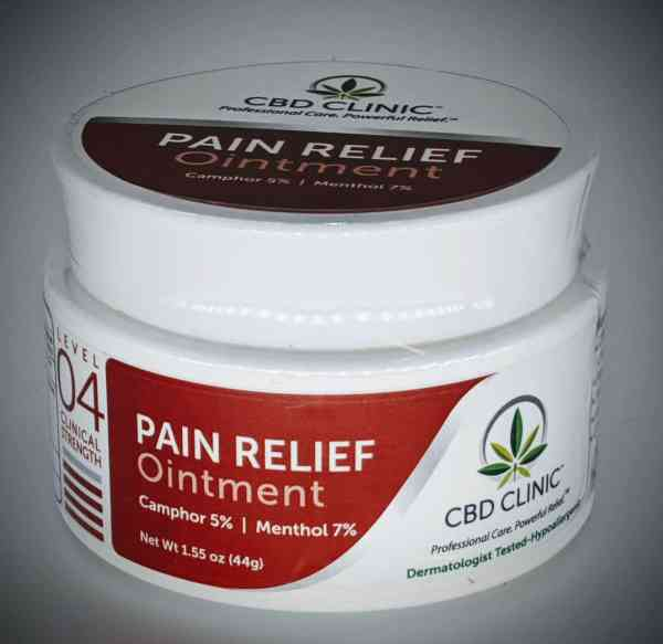 CBD Clinic Level 4 Clinical Strength - Severe with 7% Menthol, 5% camphor - Revolutionary Pain Relief for arthritis, joint pain, muscle pain, doctor recommended