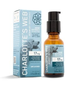 Charlotte's Web PAWS for pets. 17mg Extra Strength 30mL pump bottle