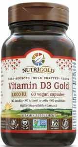 Nutrigold - Vit D3 1000 IU 60 ct