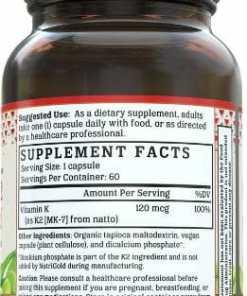 Nutrigold - Vitamin K2 MK 7 Gold Info