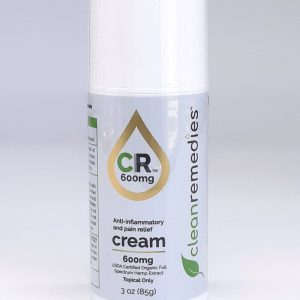 Clean Remedies Pain Cream 600mg. USDA Organic Full Spectrum CBD. Helps to reduce pain and inflammation