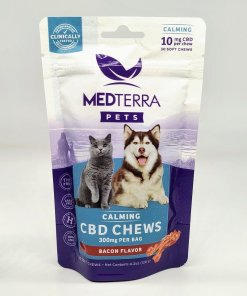 Medterra CBD Soft Chew Pet Treat - 10mg CBD Treats. Combing Glucosamine, MSM, and Chondroitin to support joint health. Relief from anxiety, inflammation, and pain. Calming. Bacon Flavored