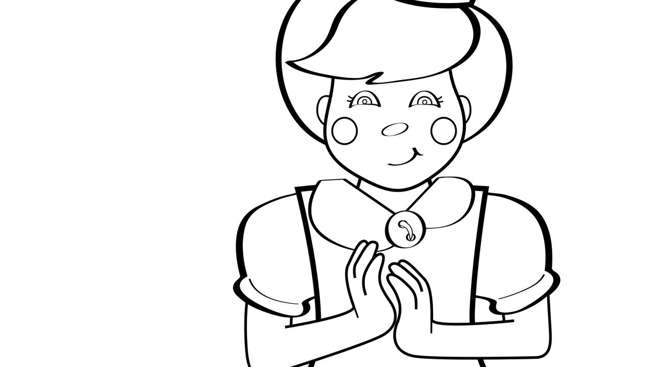 Clap Your Hands Coloring Page Mother Goose Club