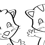 Three Little Kittens Coloring Page Mother Goose Club