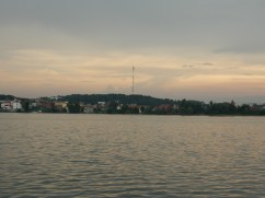 From the opposite side of the lake