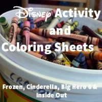 Disney Activity Sheets and Coloring Pages from Cinderella, Frozen, Inside Out and More!
