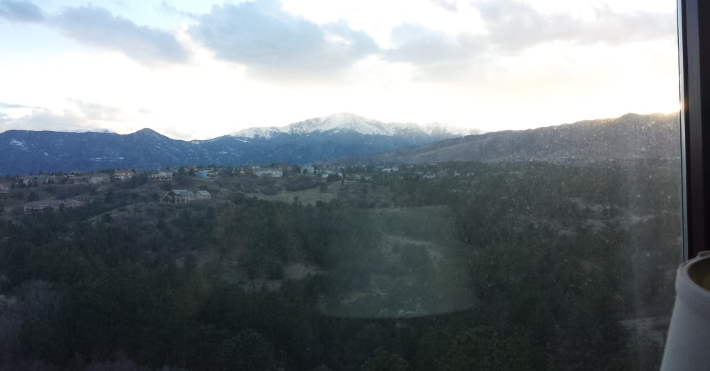 Mountain Views from the Colorado Springs Marriott