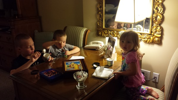 Ice cream before bedtime at The Broadmoor