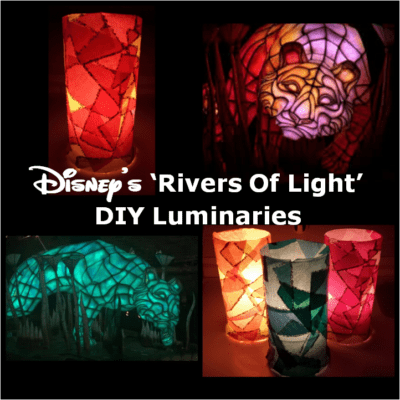 Disney's Rivers Of Light DIY Luminaries