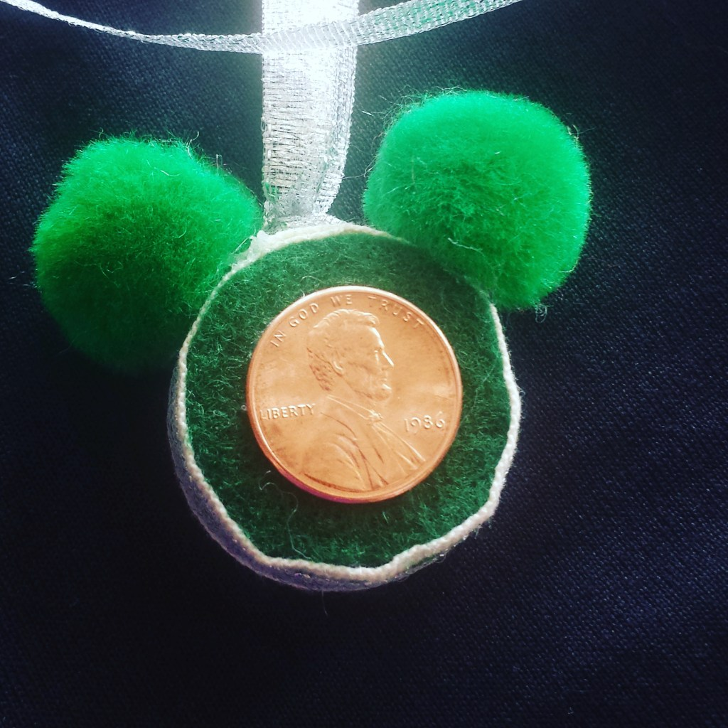 Lucky Penny Mickey Necklace – St. Patrick's Day Disney Craft