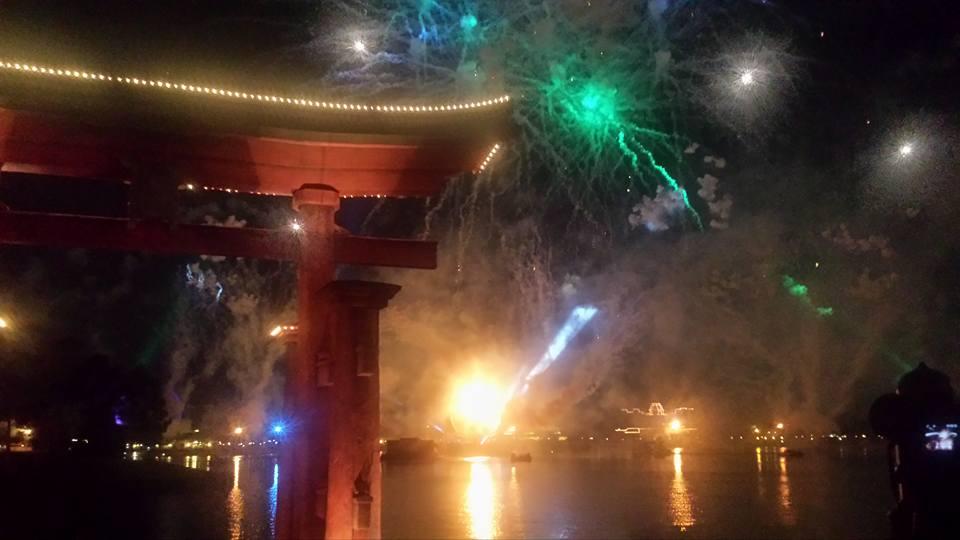 Epcot's Japan Pavillion - IllumiNations View