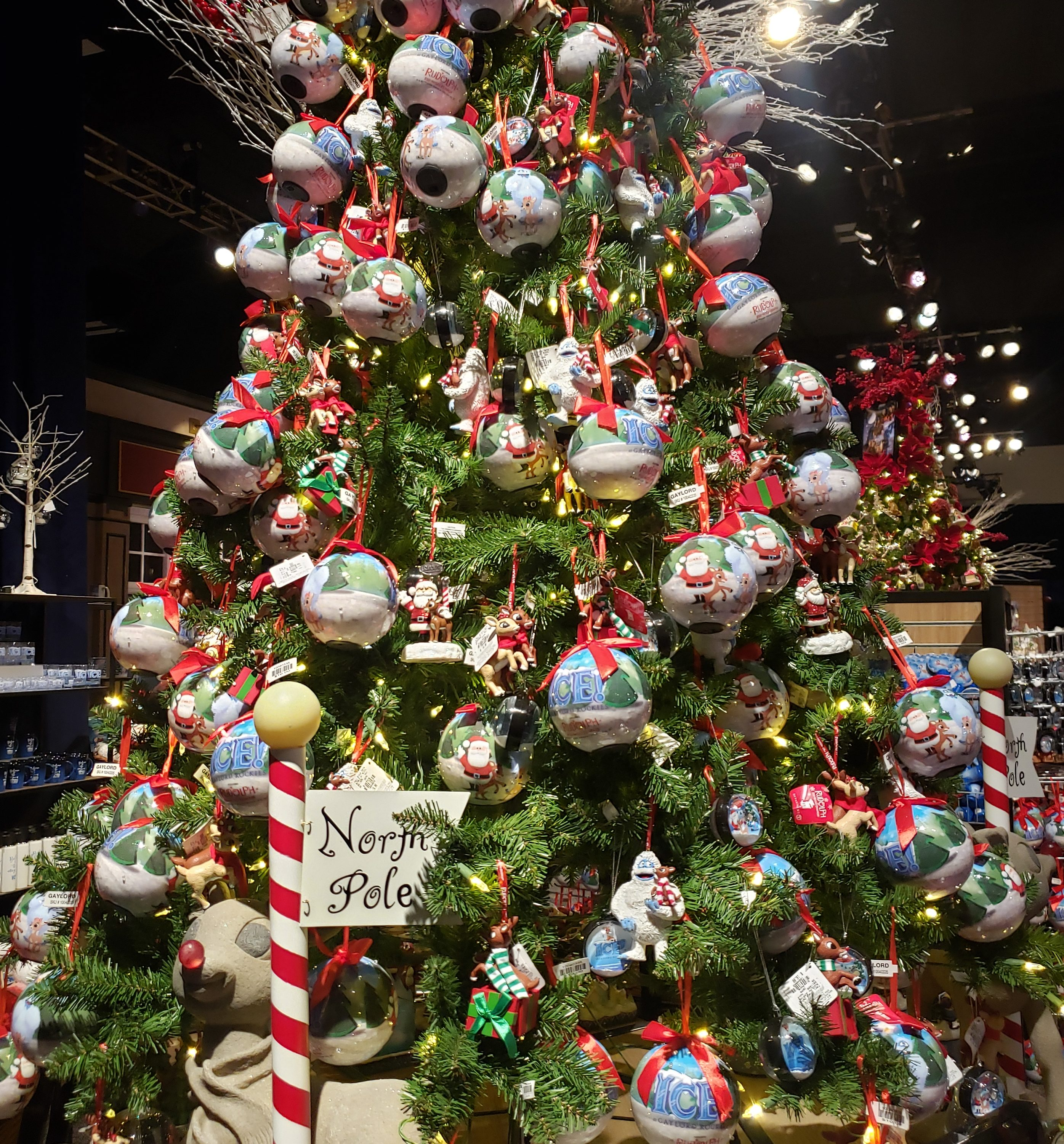 Christmas ornaments and decorations during Christmas at Gaylord of the Rockies