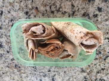 Wrap with peanut butter cut into sma.ll pieces