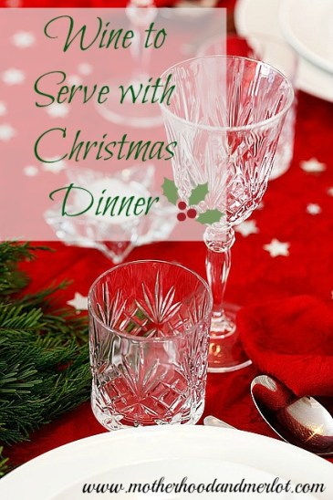 wine with christmas dinner