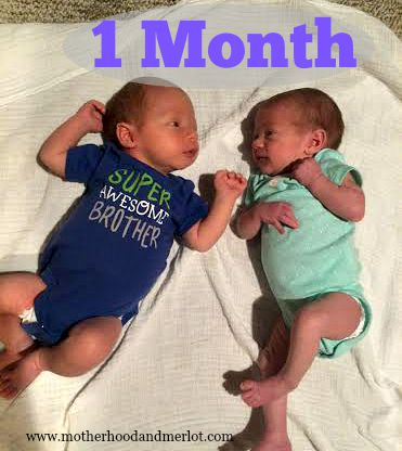 1 month twins