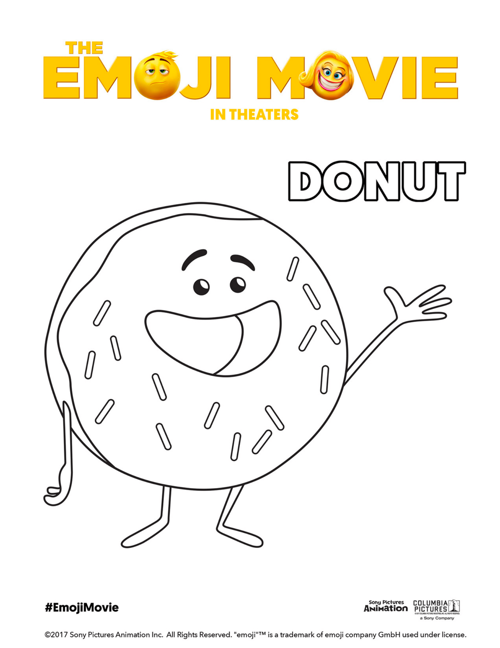 The Emoji Movie Activity And Coloring Pages Downloads