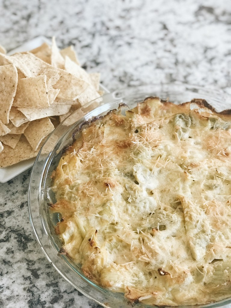 traditional artichoke dip