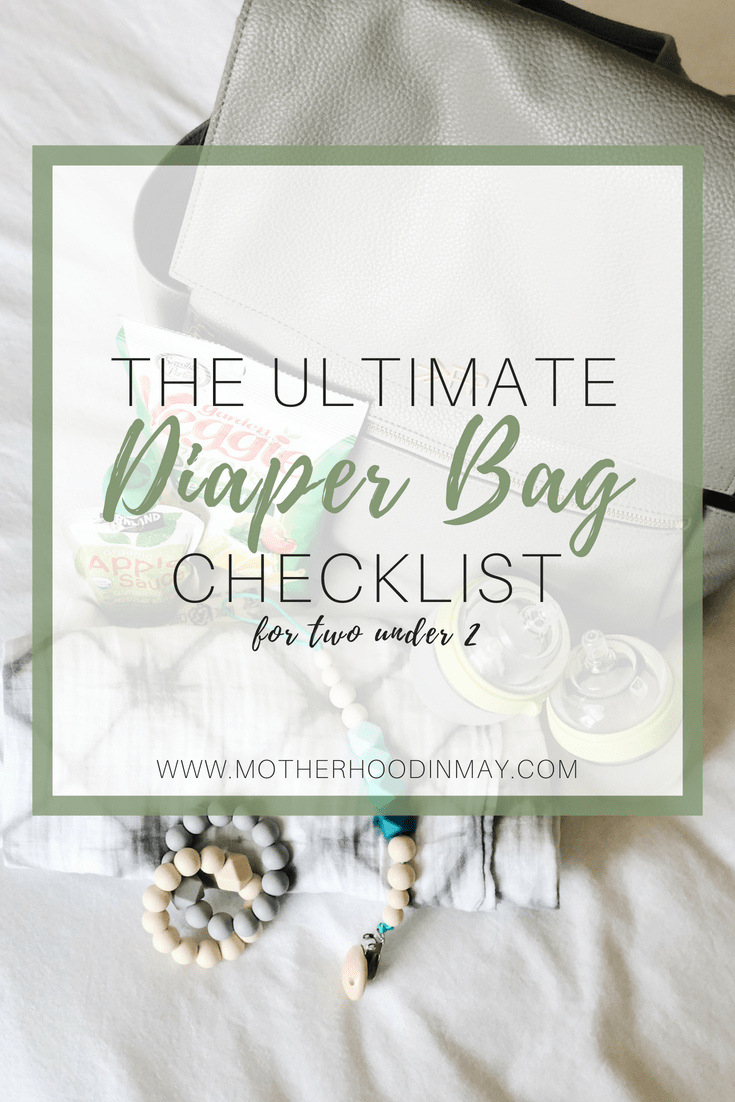 whats in my diaper bag for two under 2
