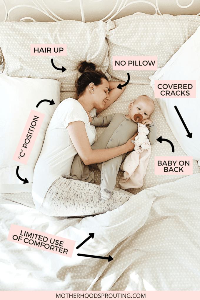 8 tips for co-sleeping safely and successfully! Co-sleeping with your baby can be an absolutely wonderful experience, but you need to know how to co-sleep safely before you try it. This post has many helpful tips on how to co-sleep safely in order to make it a successful experience for all. #cosleeping #newbaby #babytips #babysleep #sleepingwithbaby