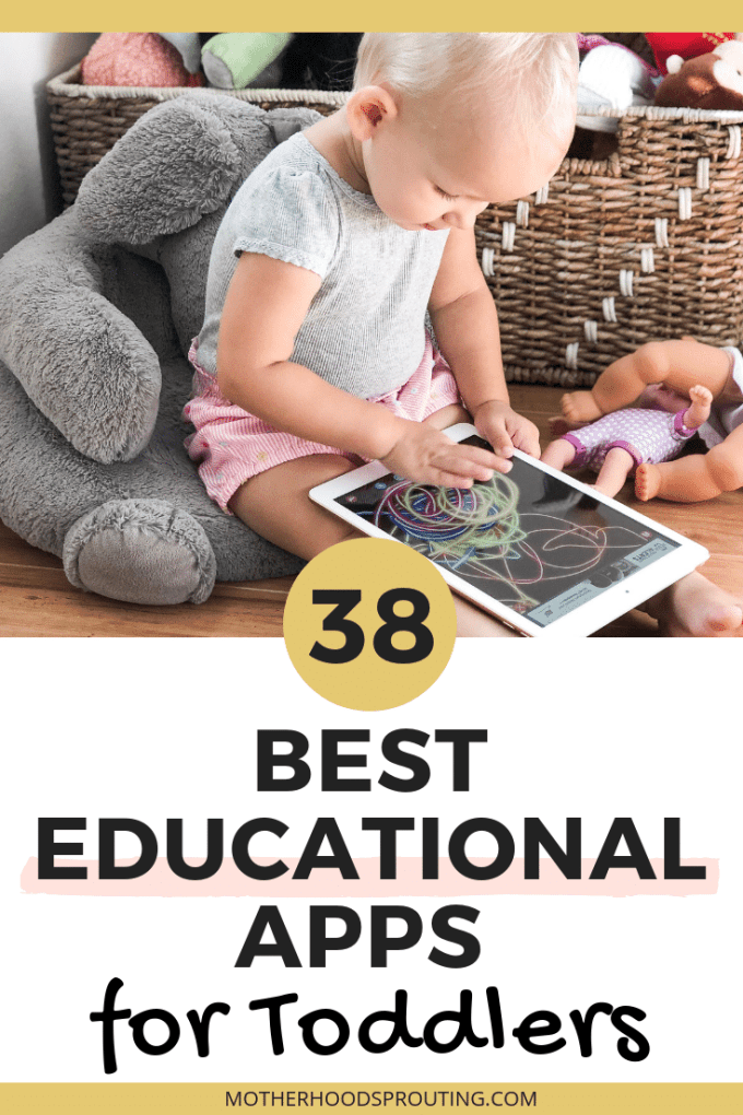 In this post, you'll discover 40 of the best educational apps for toddlers so you can make sure your toddlers screen time is helping their growth and development and not hindering it. #toddlers #educationalapps #screentime #toddleractivities