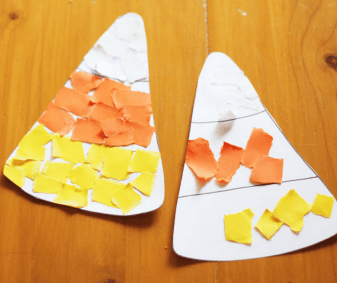 Candy Corn Halloween Craft - Halloween Crafts for Toddlers