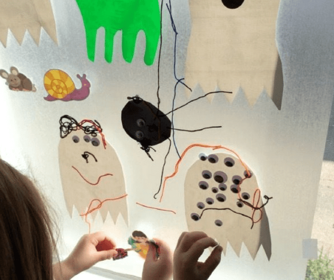 Contact Paper Ghost - Halloween Crafts for Toddlers