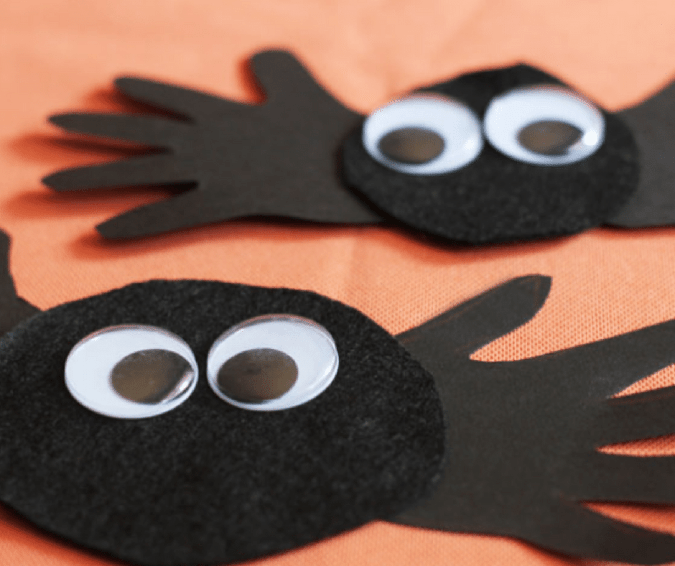 Spider Handprint Craft - Halloween Crafts for Toddlers