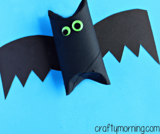 Toilet Paper Roll Bat - Halloween Crafts for Toddlers