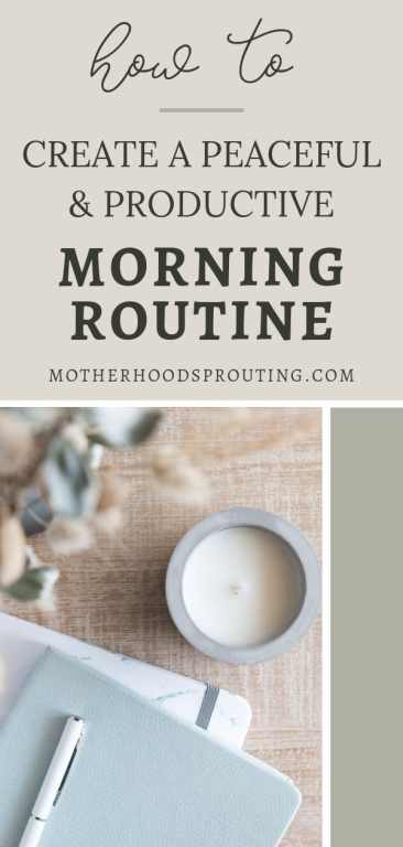 In this post, you'll learn how to create a personal growth focused morning routine for moms that is more peaceful and productive, using just 6 simple steps.
