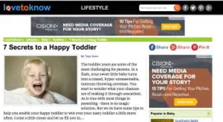 Lovetoknow happy toddler