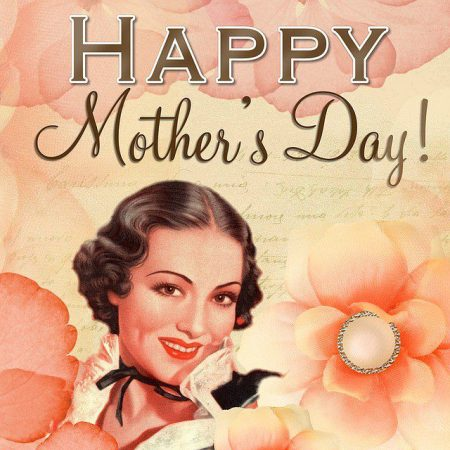 Happy Mother's Day vintage style poster