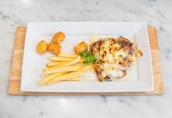 Chicken Parmigiana with Fries