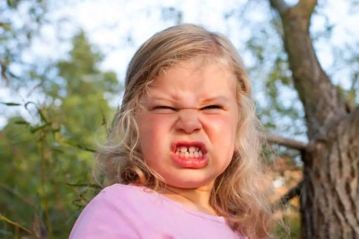 child is having a tantrum
