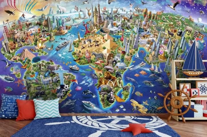 children's wall murals