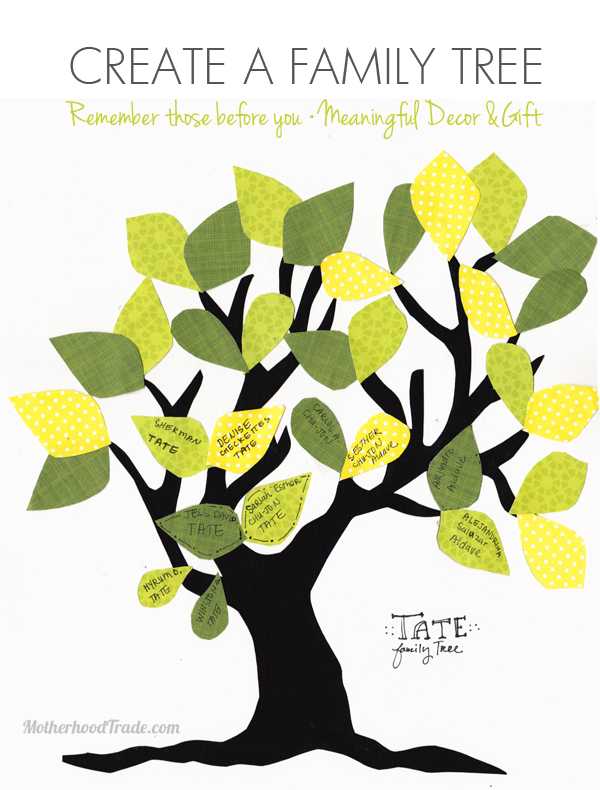 create a family tree free printable tricks of the motherhood trade