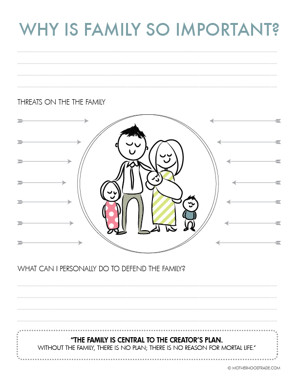 why is family so important worksheet-01