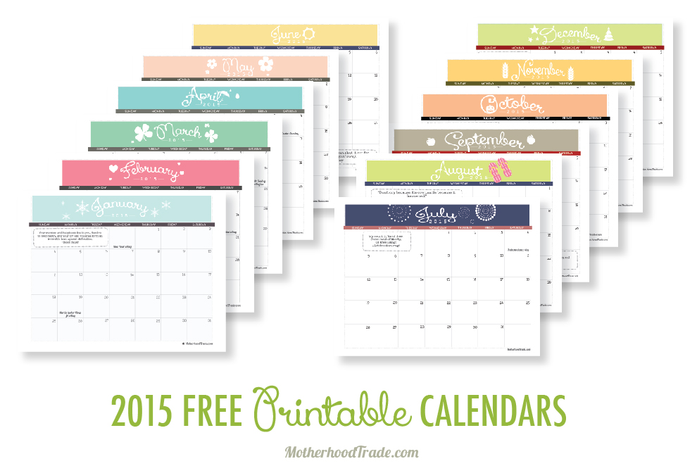 photo relating to Www.printablecalendars.com � Www.freeprintable.net named 2015 no cost printable calendars Secrets of the Motherhood Exchange