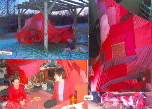new moon red tent
