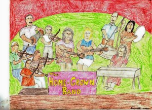 Drawing by Raoul of Still, The Homegrown Band