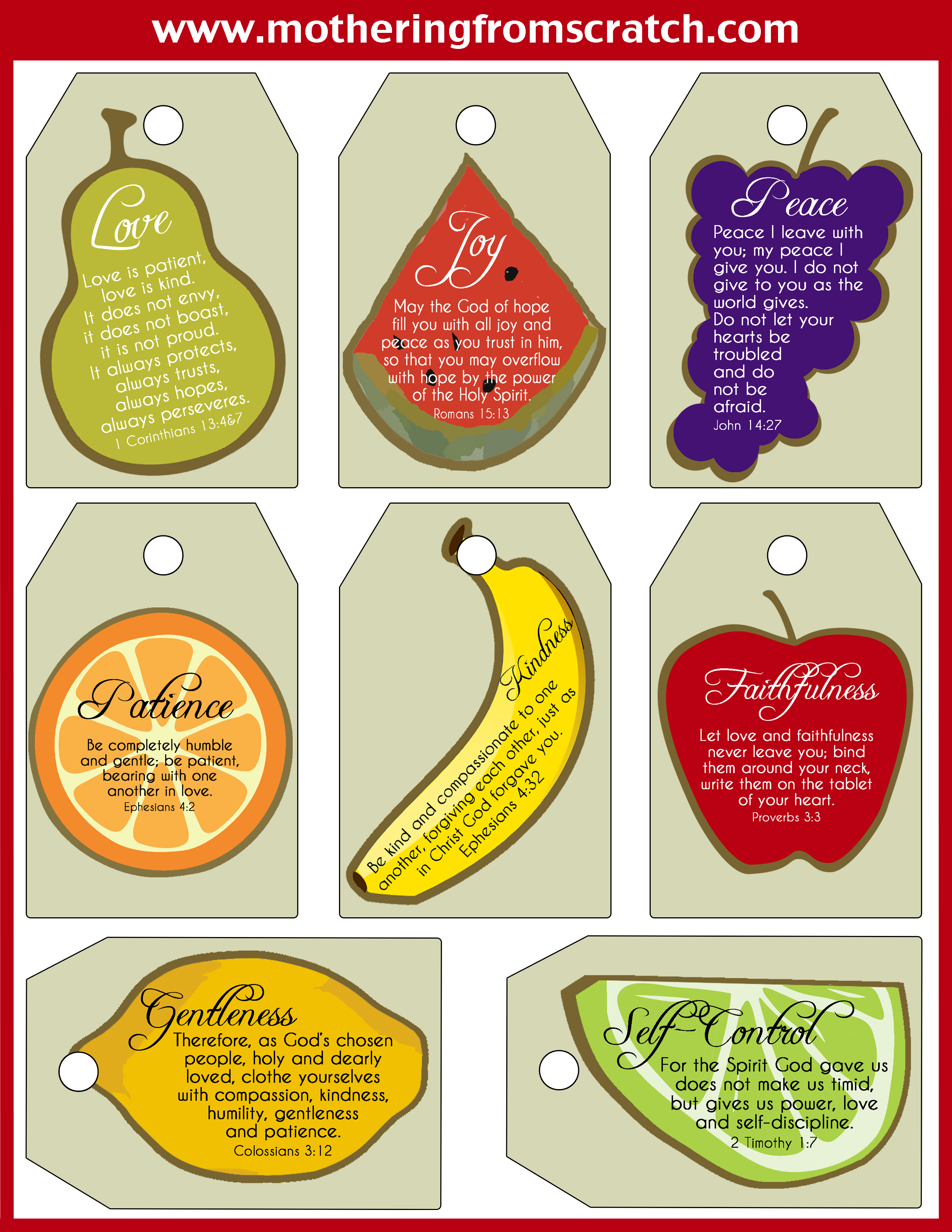 Fruits Of The Spirit Printable That Are Geeky