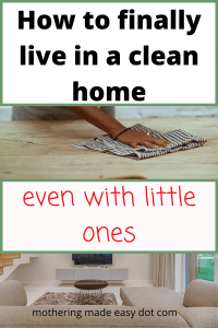 how to live in a clean home with kids